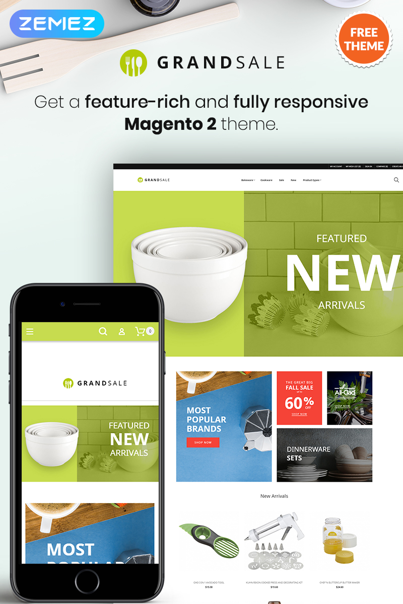 "Magento motiv ""GrandSale - FREE eCommerce Wholesale"" #79869"