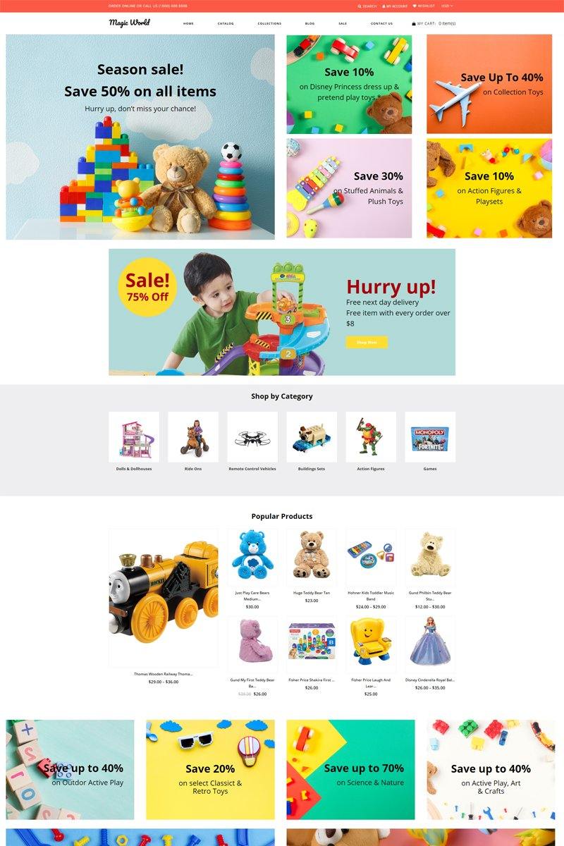 Magic World - Toys Store Clean Shopify Theme
