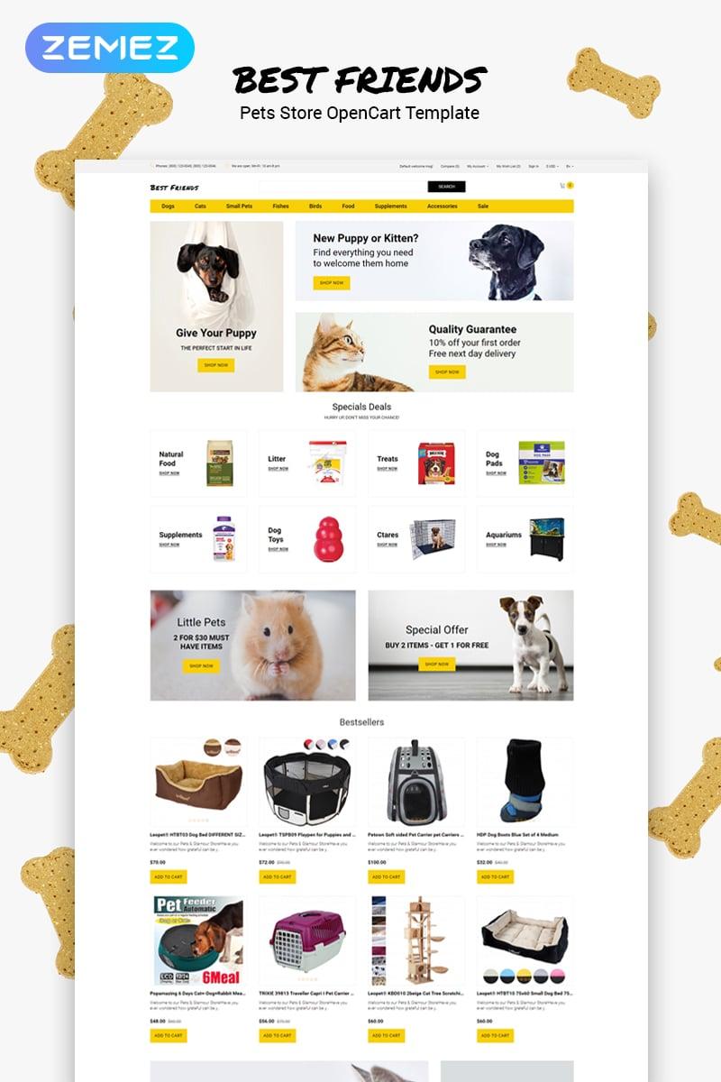 "Modello OpenCart Responsive #79853 ""Best Friends - Pets Store Clean"""