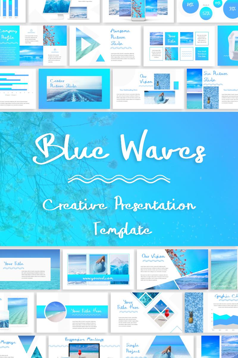 """PowerPoint šablona """"Blue Waves -"""" #79899"""