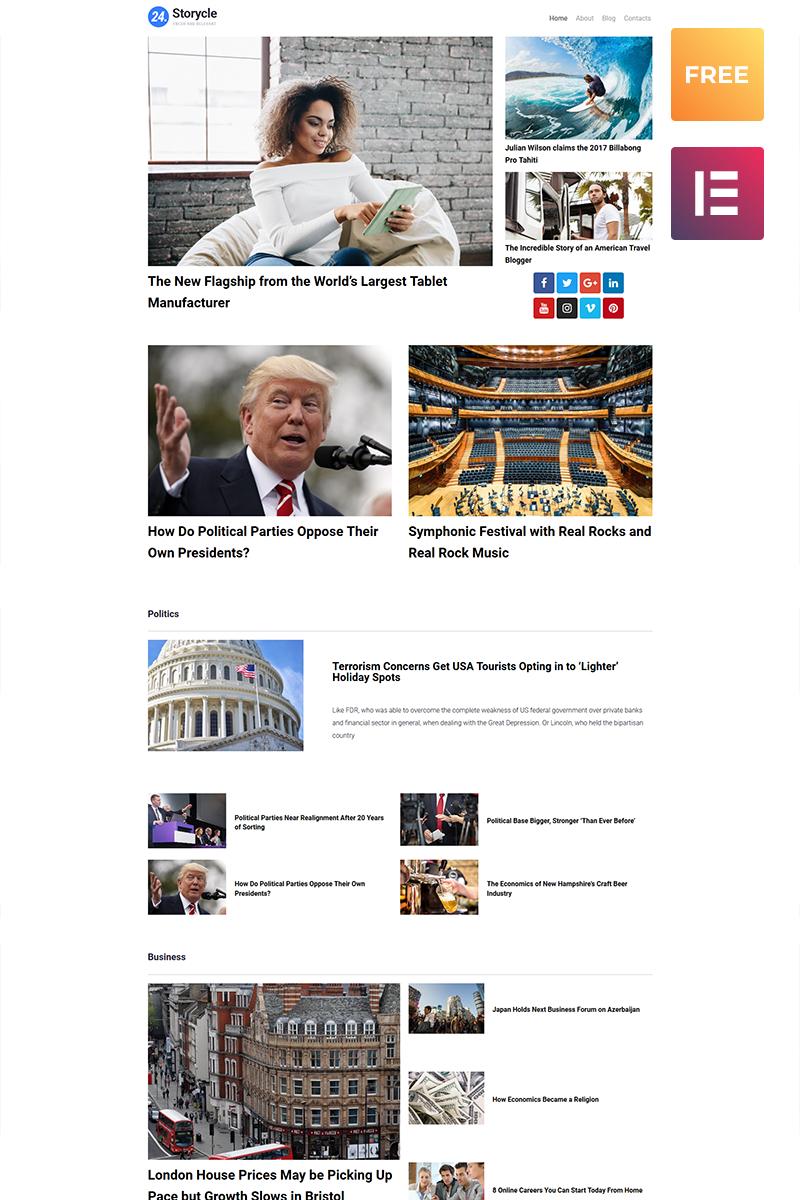 Responsywny motyw WordPress 24.Storycle lite - Multipurpose News Portal Elementor #79813 - zrzut ekranu