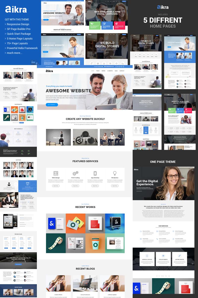 Reszponzív Aikra - Responsive MultiPurpose Joomla sablon 79895