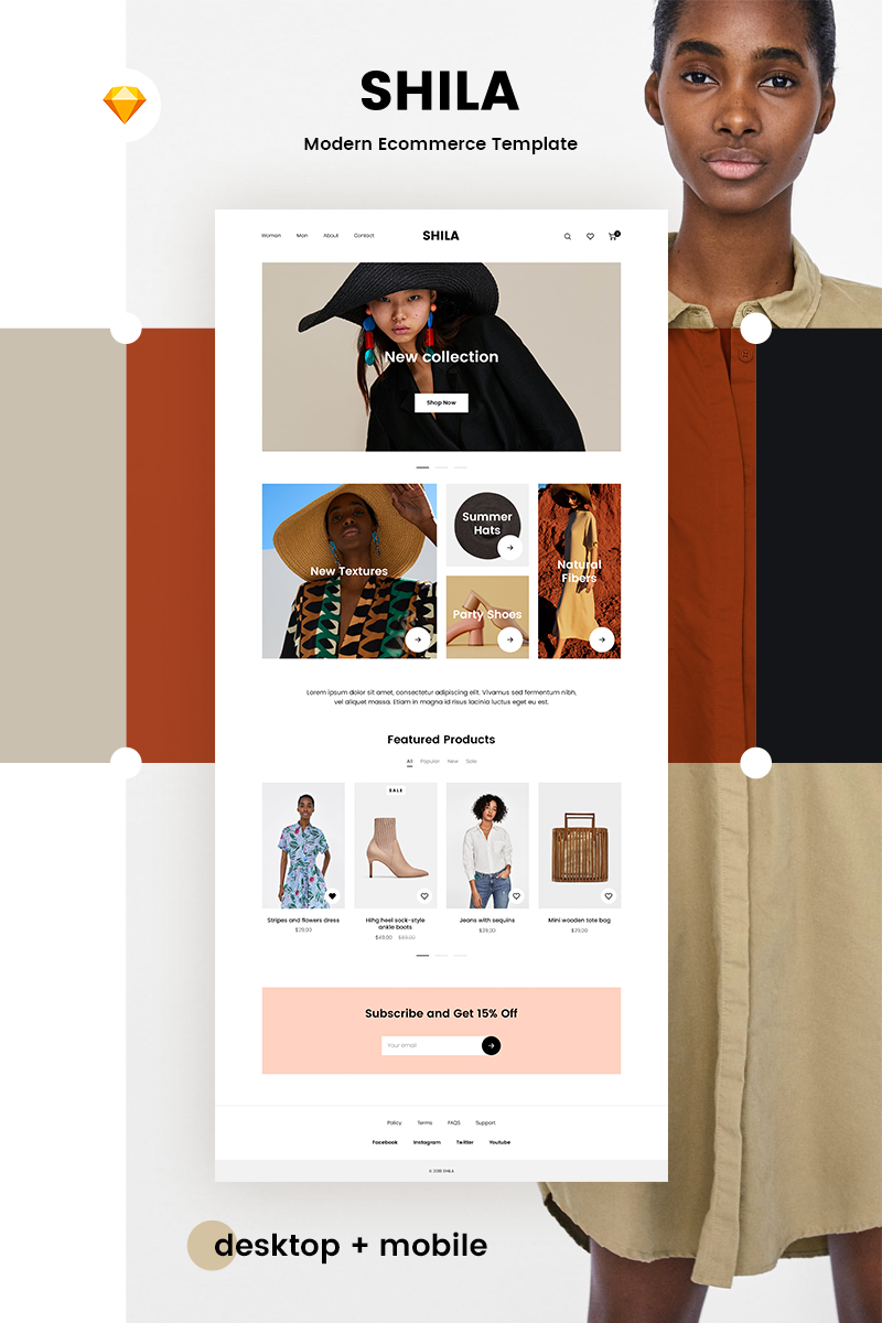 Shila Ecommerce Sketch Template