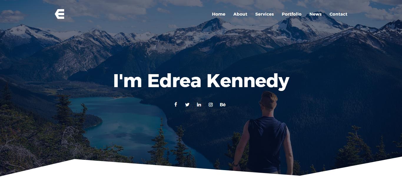 """Tema Joomla Responsive #79875 """"Edrea - Personal Portfolio"""""""