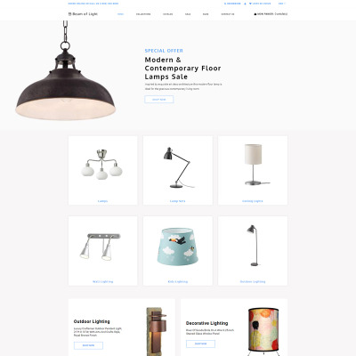 Responsive Tema Shopify #79856 para Sitio de  para Sitio de Iluminación y Electricidad