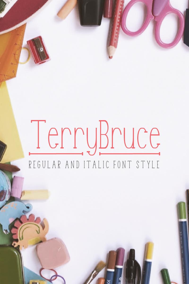 TerryBruce Font - screenshot