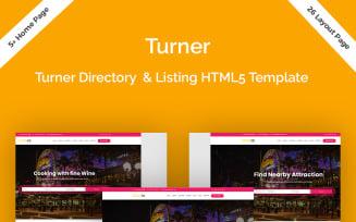 Turner - Directory & Listing HTML5 Website Template