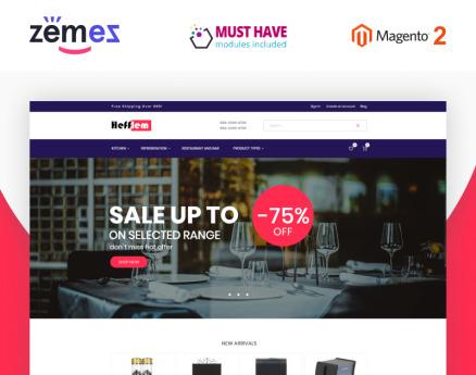 Hefflem - Kitchen Furniture Ecommerce Template Magento Theme