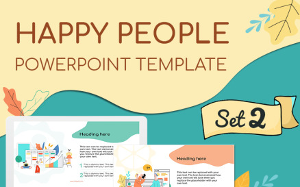Happy People Set 2 PowerPoint Template
