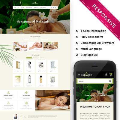 Beauty Salon Responsive OpenCart Sablon