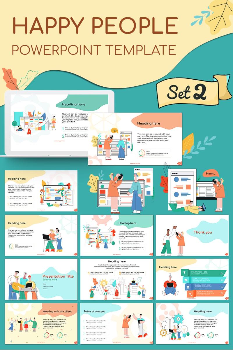 """Happy People Set 2"" - PowerPoint шаблон №79926"