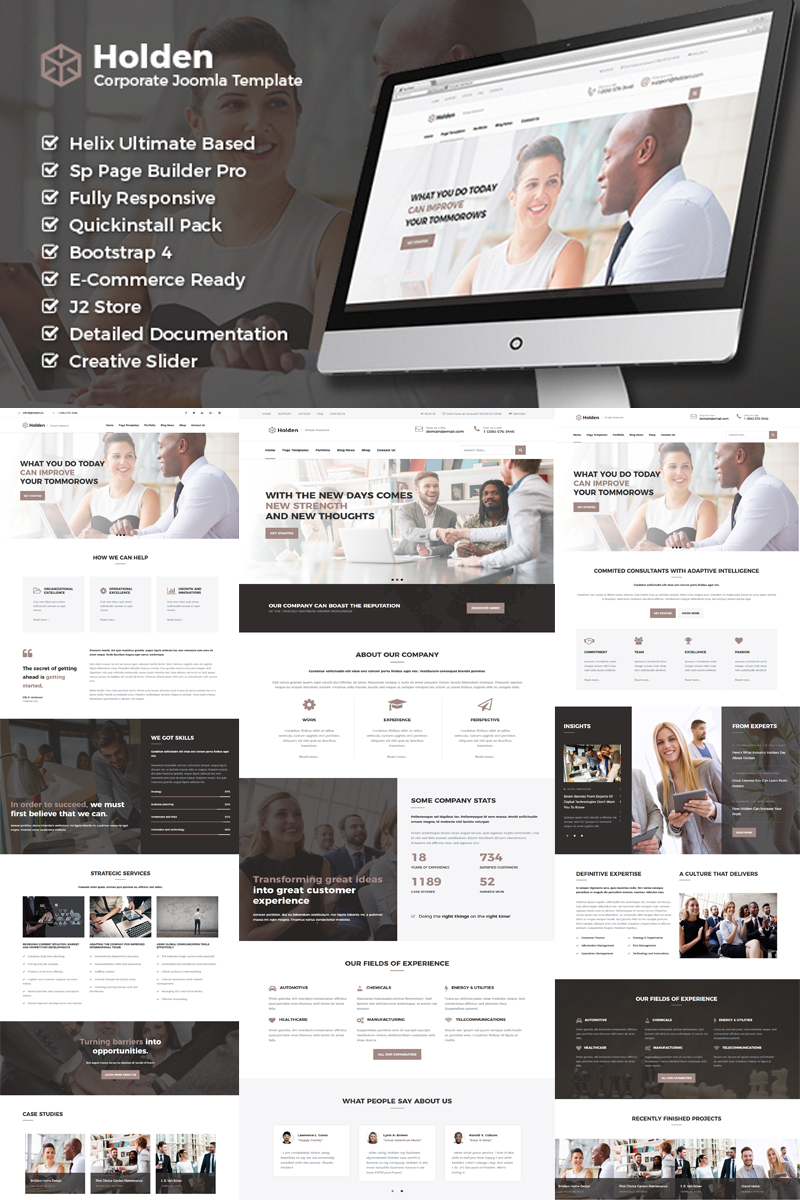Holden - Corporate Business Joomla Template with Page Builder | Business Joomla Template - screenshot