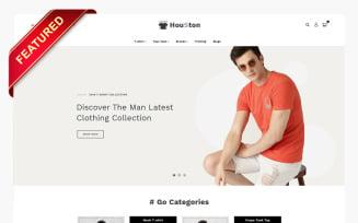 Houston T-Shirt Shop OpenCart Template