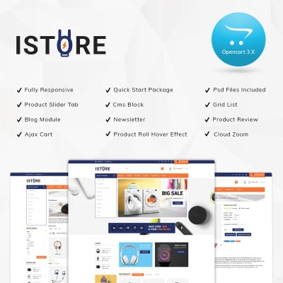 152+ Best Opencart Electronics Templates