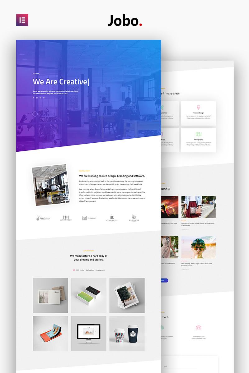Jobo - Creative Portfolio Modern Elementor №79976 - скриншот