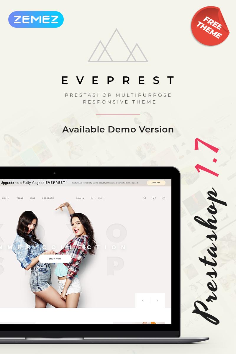 "PrestaShop Theme namens ""Eveprest - Free Clean Bootstrap Ecommerce"" #79955"