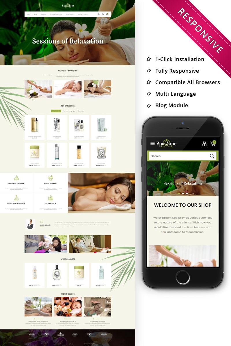 """Spazone - The Massage Parlour Responsive"" thème OpenCart Bootstrap #79923"