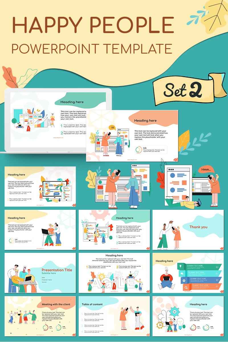"Tema PowerPoint #79926 ""Happy People Set 2"""