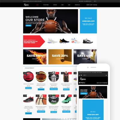 Flexível temas Shopify  №79975 para Sites de Loja de Esporte