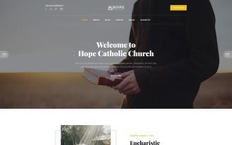 Hope - Catholic Church Multipage Modern HTML Website Template