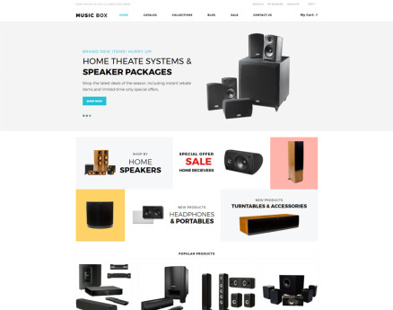Music Box - Music Store Clean Shopify Theme