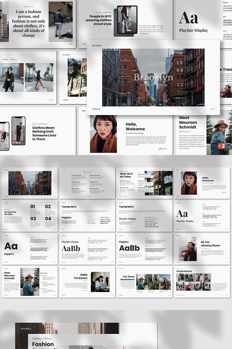 """""""Brooklyn -"""" modèle PowerPoint  #80067"""