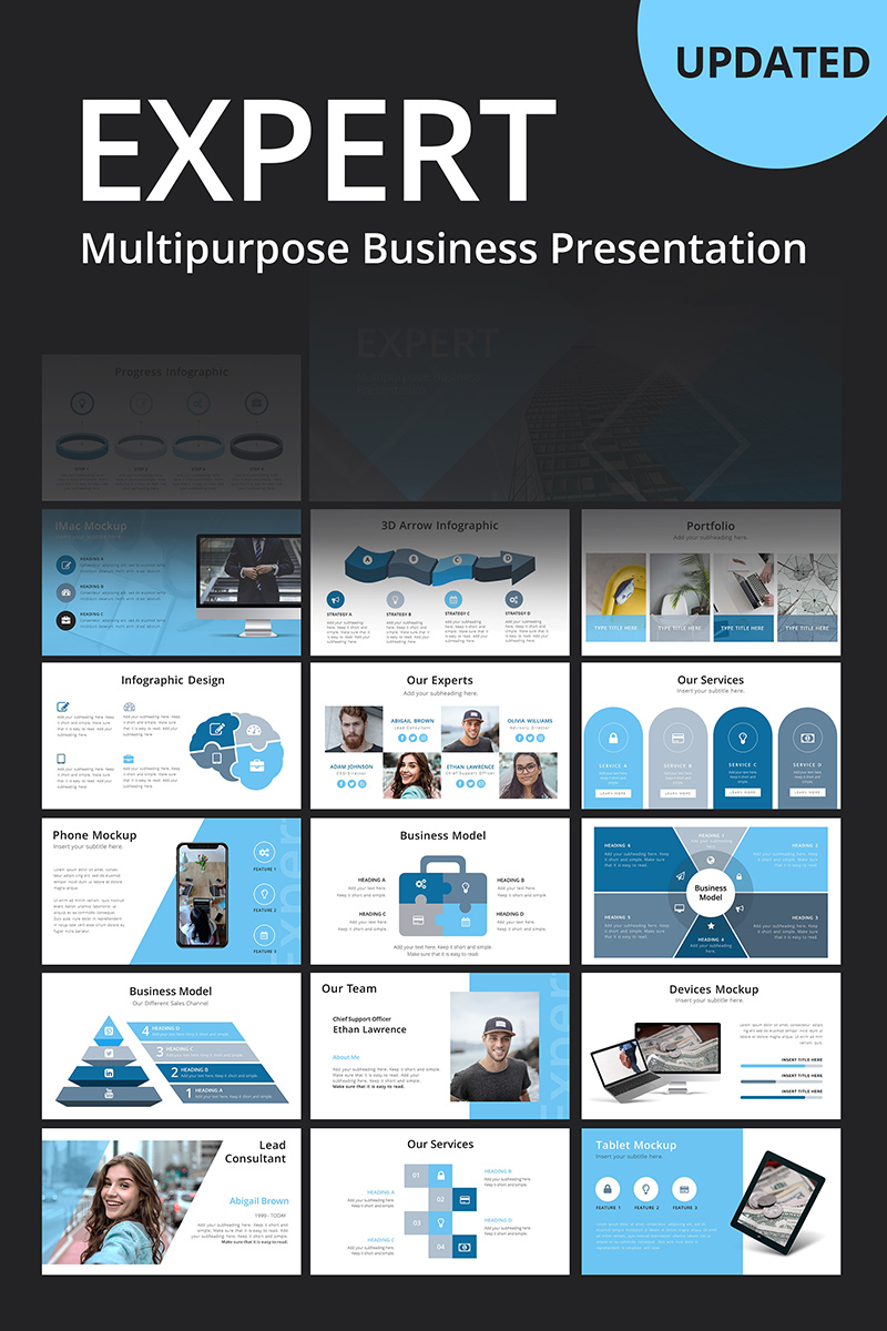 """Expert Business"" modèle PowerPoint  #80005"