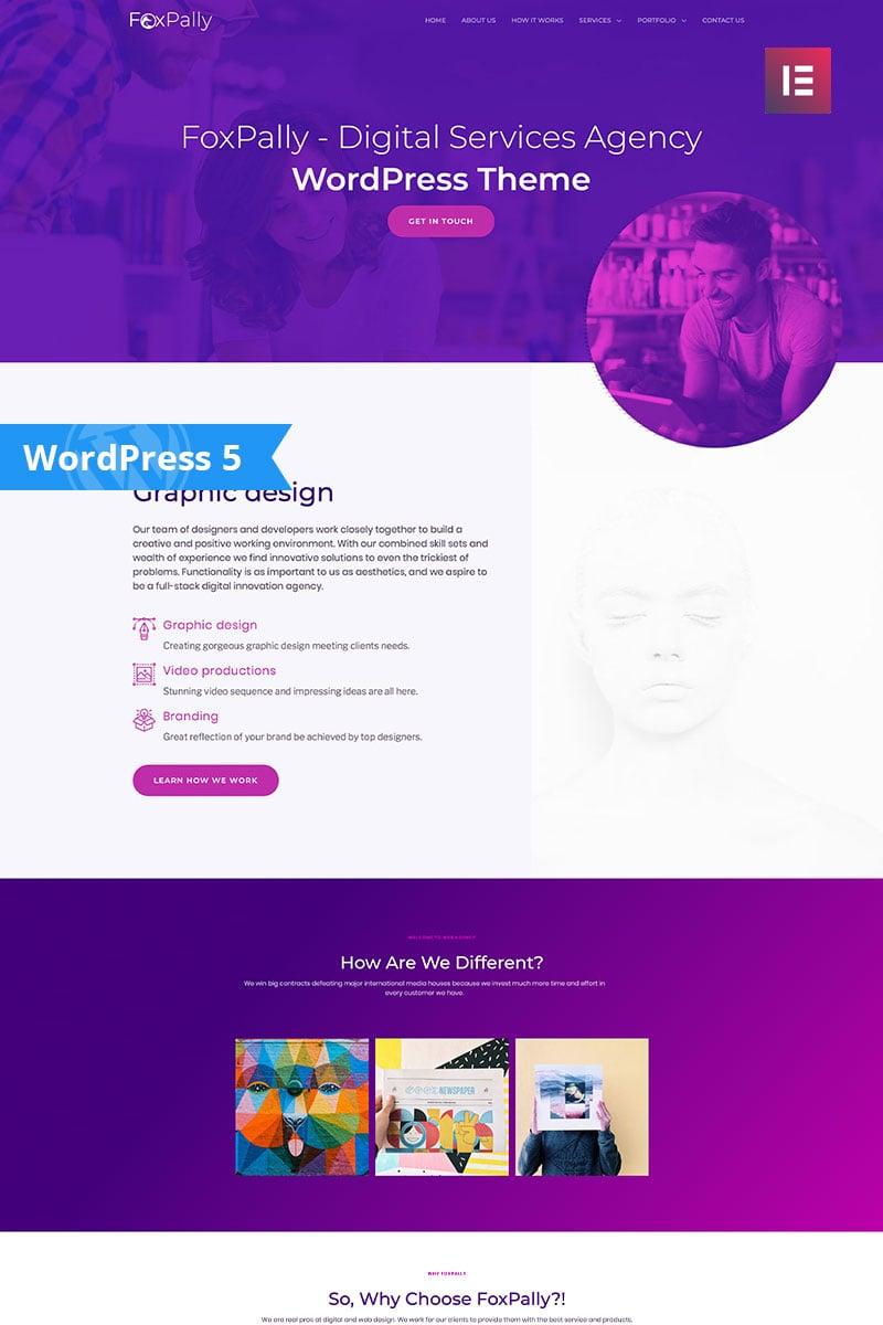 FoxPally - Modern Digital Agency Business WordPress Theme