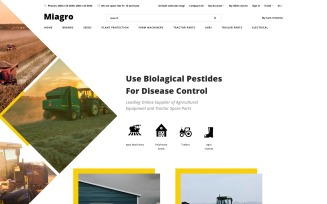 Miagro - Agriculture Equipment Store Clean OpenCart Template