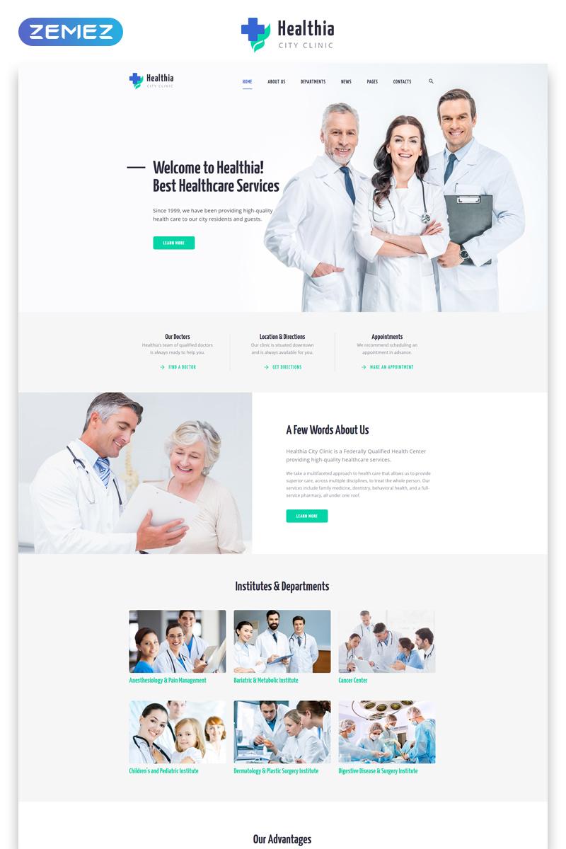 """Plantilla Web """"Healthia - Medical & Healthcare Clean Multipage HTML"""" #80038"""