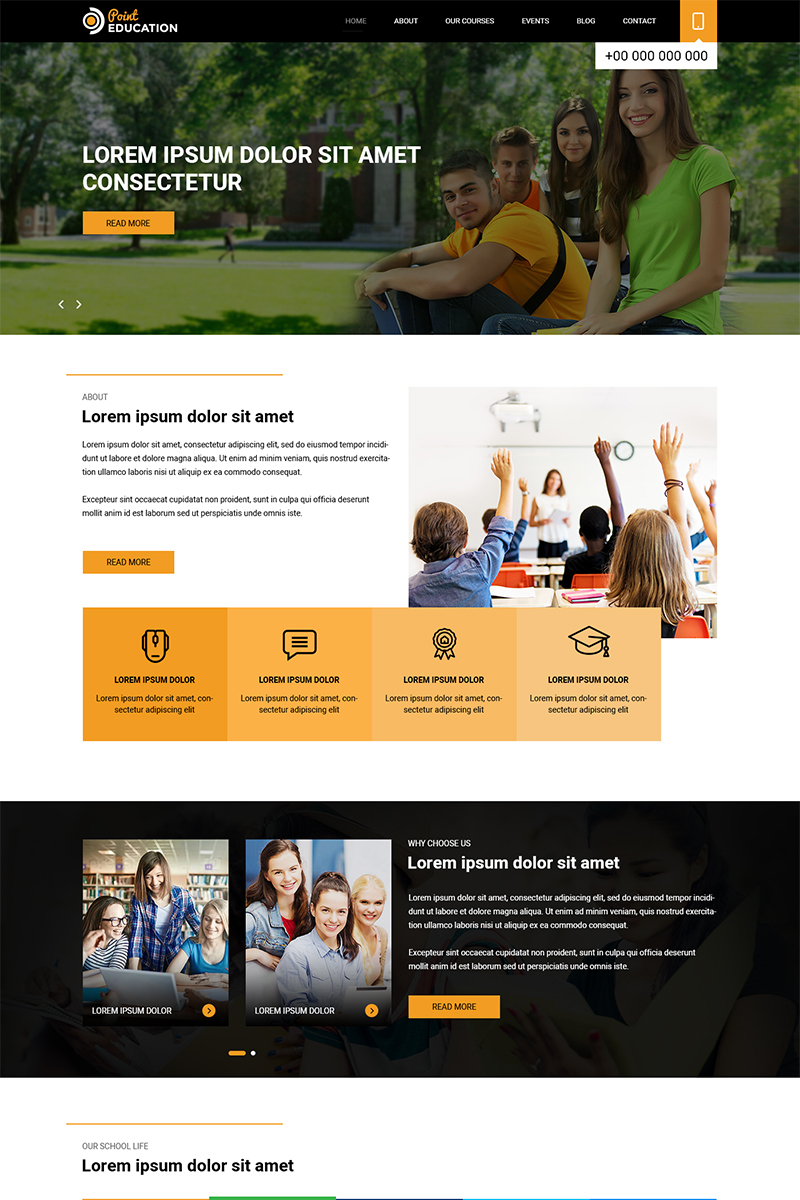 Point Education - School Education PSD Template