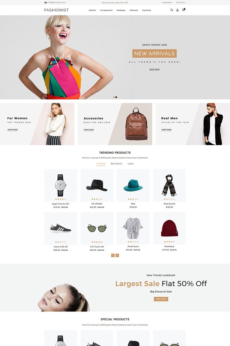 Responsivt Fashionist OpenCart-mall #80002