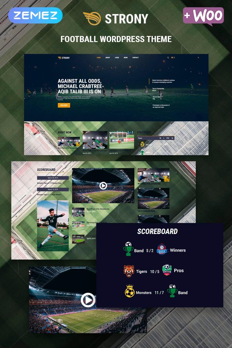 """Strony - Sport Classic Elementor"" - адаптивний WordPress шаблон №80051"