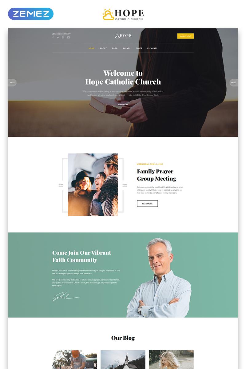 "Website Vorlage namens ""Hope - Catholic Church Multipage Modern HTML"" #80007"