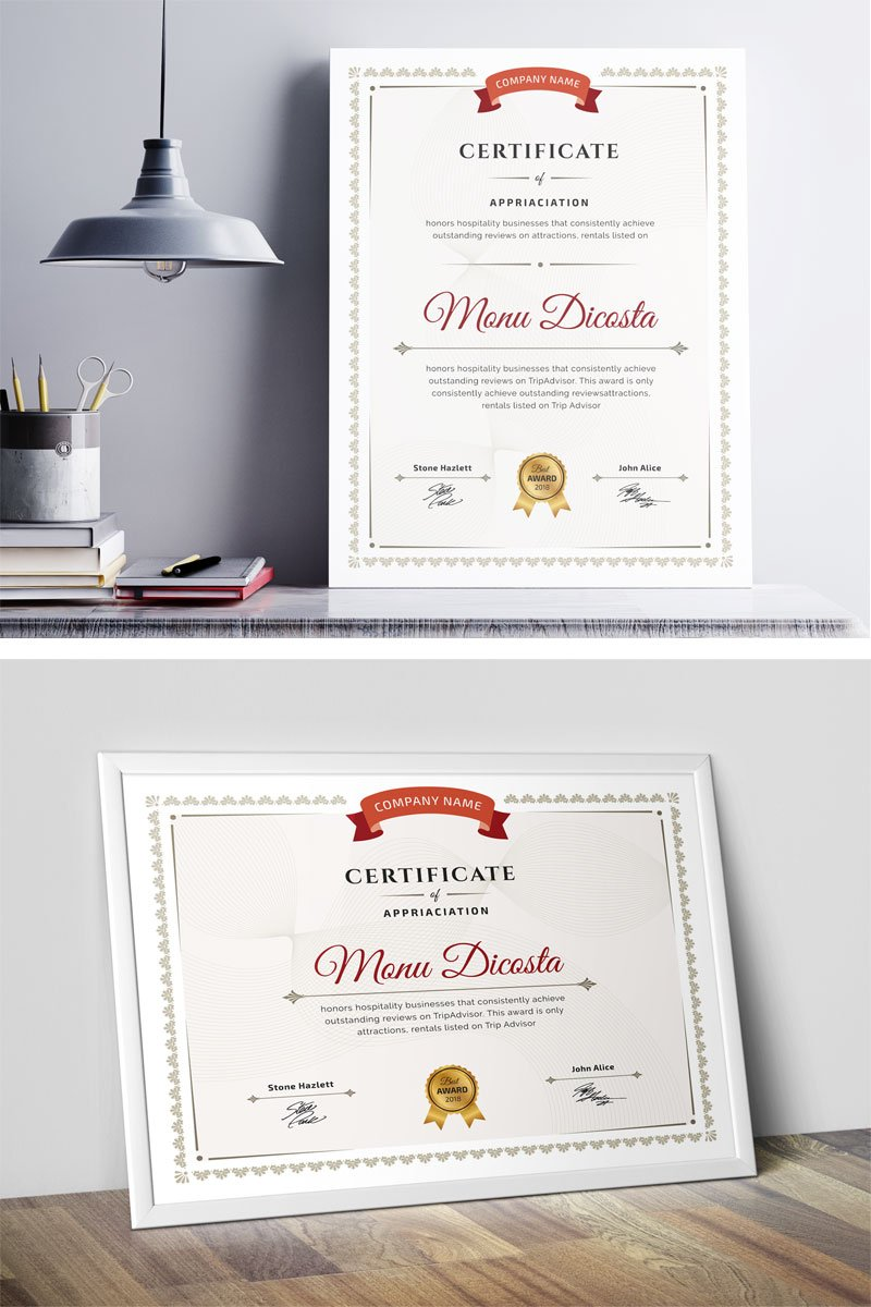 """Word"" Certificate Template №80049"
