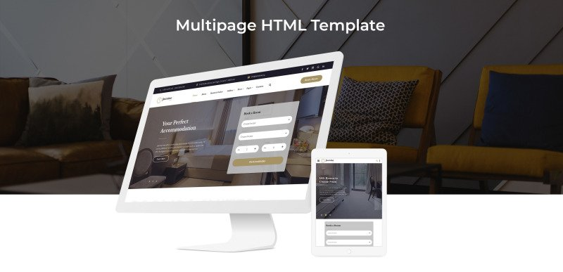 Jasmine - Hotel Classic Multipage HTML5 Website Template - Features Image 2
