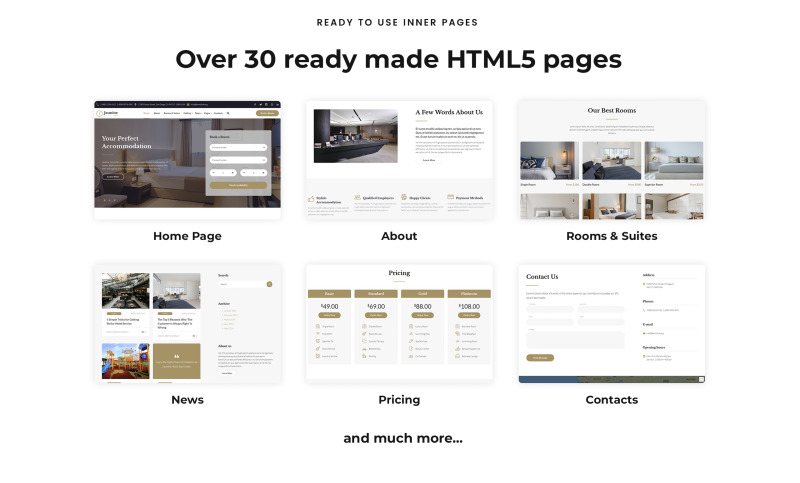 Jasmine - Hotel Classic Multipage HTML5 Website Template - Features Image 3