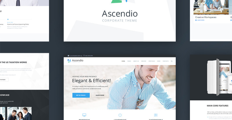 Ascendio - Corporate & Business WordPress Theme - Features Image 2