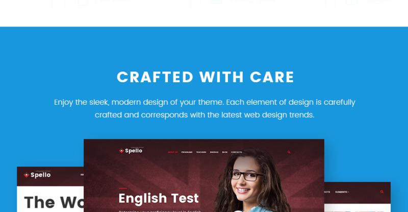 Spello - Language School WordPress Theme - Features Image 9