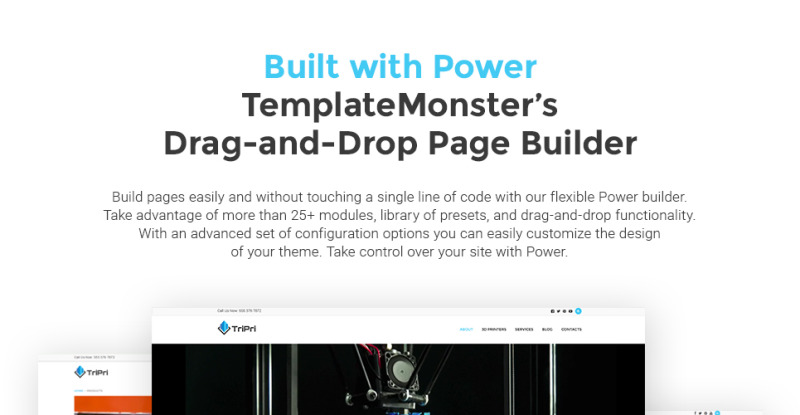 3D Printing Services WordPress Theme - Features Image 1