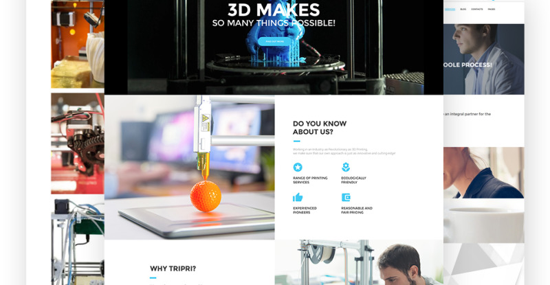 3D Printing Services WordPress Theme - Features Image 2