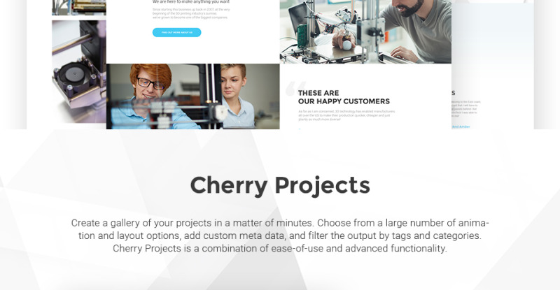 3D Printing Services WordPress Theme - Features Image 3