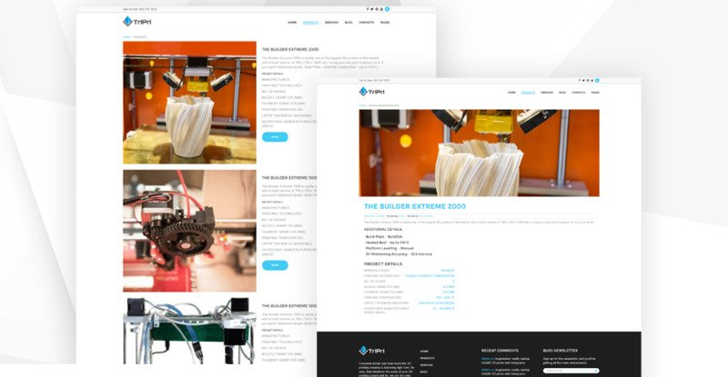 3D Printing Services WordPress Theme - Features Image 4