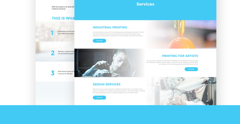 3D Printing Services WordPress Theme - Features Image 6