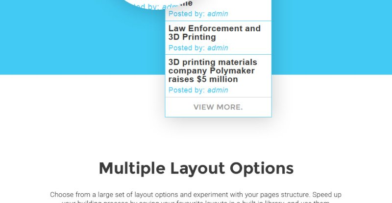 3D Printing Services WordPress Theme - Features Image 8