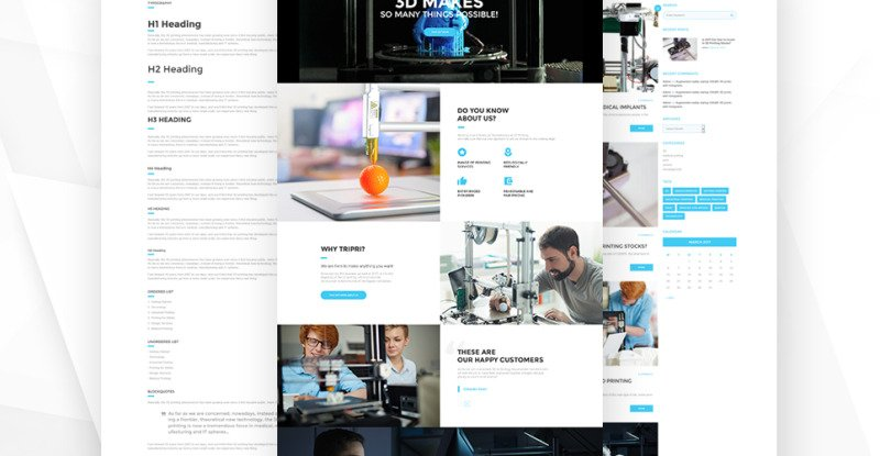 3D Printing Services WordPress Theme - Features Image 13