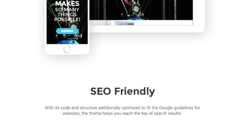 3D Printing Services WordPress Theme - Features Image 21