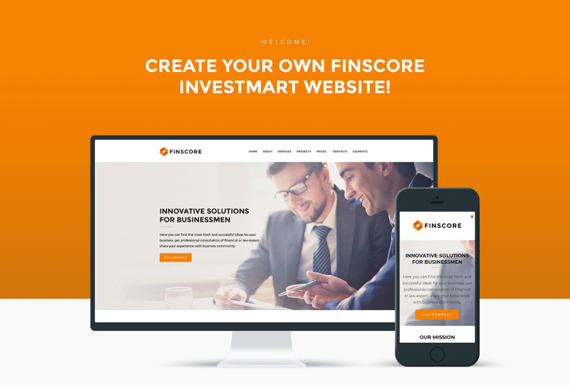 Finscore - Consulting Responsive WordPress Theme - Features Image 1