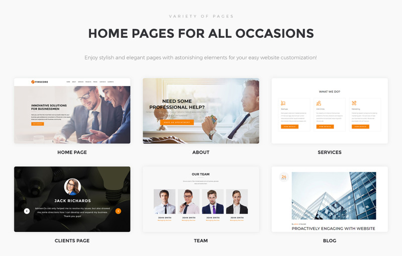 Finscore - Consulting Responsive WordPress Theme - Features Image 2