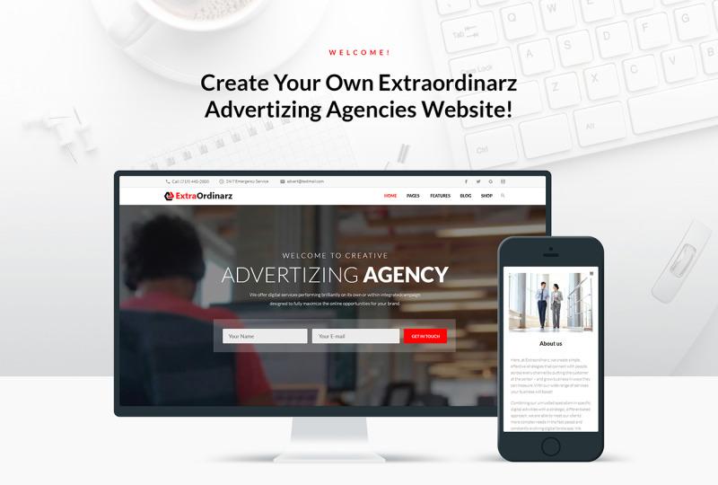 ExtraOrdinarz - Advertising Agency WordPress Theme - Features Image 1